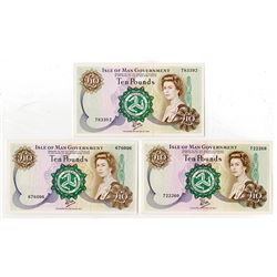 Isle of Man Government, 1979 ND Issue Banknote Trio.
