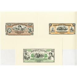 Hawaiian Islands, Certificate of Deposit, 1879 (Reprinted 1995 from Original Plates by ABNC) Banknot