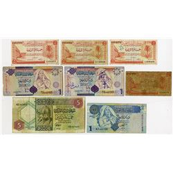 United Kingdom of Libya & Central Bank of Libya. 1951-2004. Octet of Circulated Issued Notes.