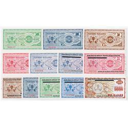 Various Macedonia & Kosovo Issuers. 1992-1999. Dozen of Regular & Provisional Notes.