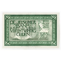 De Jelsumer Bank, ND (ca.1920-30's) Joh. Enschede Banknote Look-a-like Advertising Note.