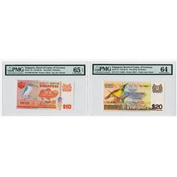 Singapore, Board of Commissioner of Currency, ND 1976 & 1979 Issue Banknote Pair.