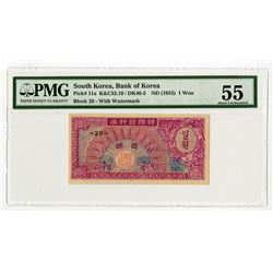 Bank of Korea, ND (1953) Issue Banknote.