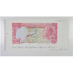 Banco Nacional de S. Tome e Principe Progressive Face Proof Booklet.