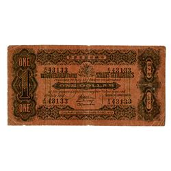Government of the Straits Settlements, 1916 Issue Banknote.