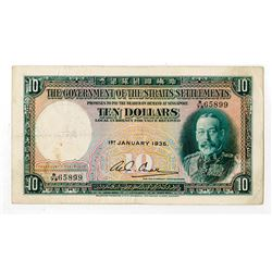 Government of Straits Settlements, 1935 Issue Banknote.