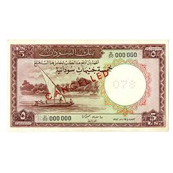 Bank of Sudan, 1962, Specimen Note