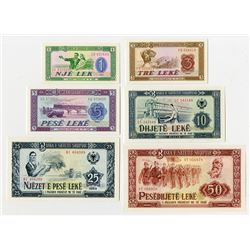 Banka e Shtetit Shqiptar. 1964. Set of 6 Issued Banknotes.