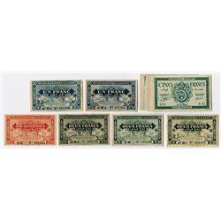 Banque de l'Algerie. 1942-1944. Group of 22 Issued Banknotes.