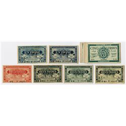 Banque de l'Algerie. 1942-1944. Group of 22 Issued Banknotes.
