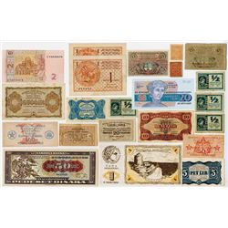Various Issuers. 1914-1991. Group of 20 Issued Notes.