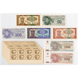 Banca Nationala a Moldovei. 1992-1993. Group of 30+ Notes.