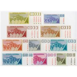 Republika Slovenija. ND (1990-1992). Group of 22 Issued Notes.