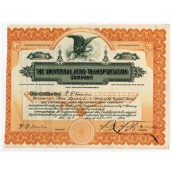 Universal Aero-Transportation Co., 1916 I/U Stock Certificate.