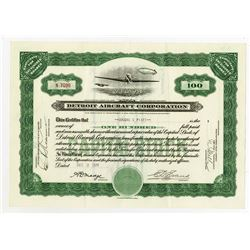 Detroit Aircraft Corp., 1930 I/ Stock Certificate.