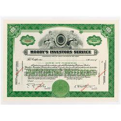 Moody's Investors Service, ca.1930-1940 Specimen Stock Certificate