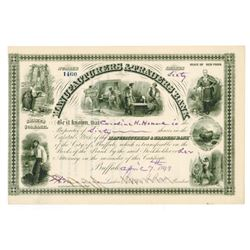 Manufacturers & Traders Bank, 1898 Cancelled Stock Certificate