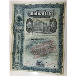 Mutual Life Insurance Co. of New York, ca.1932-33 Specimen Bond with Gold Clause overprinted on 1900