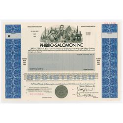 Phibro-Salomon Inc, 1985 Specimen Registered Bond.