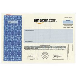 Amazon.Com, Inc., 2001 Specimen Stock Certificate