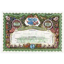 Ringling Bros. and Barnum & Baily Combine Shows, Inc. 1969 I/C Stock Certificate.