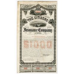 Citizens Insurance Company of Canada, 1880-90's Proof Bond.