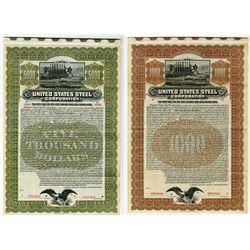 United States Steel Corp., 1903 Pair of Specimen Bonds