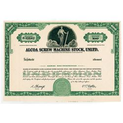 ALCOA Screw Machine Stock, Unltd. ND(ca.1960-70s). Parody Proof Stock Certificate.