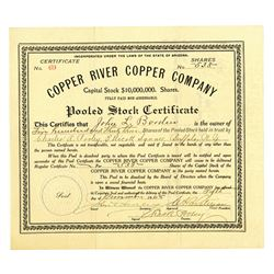 Copper River Copper Company, 1908 I/U Stock Certificate.