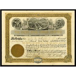 Lucky Star Mining Co., 1903 I/U Stock Certificate.