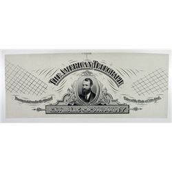Jay Gould Portrait on American Telegraph Cable Co., ca.1880's Proof Stock Title.