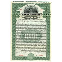 New York Shipbuilding Corp. 1916 Specimen Bond.