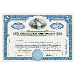 Honolulu Oil Corporation ND ca.1940-50's Specimen Stock Certificate.