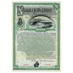 Niagara Falls Power Co., 1892 Specimen Bond