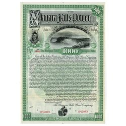 Niagara Falls Power Co., 1892 Specimen Bond