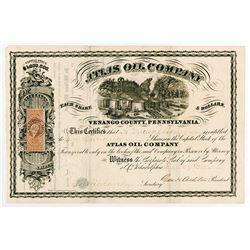 Atlas Oil Co., 1864 I/U Stock Certificate.