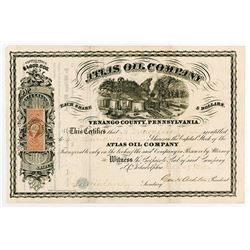 Atlas Oil Co., 1864 I/U Stock Certificate.