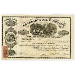 Excelsior Oil Co., 1864 I/U Stock Certificate.
