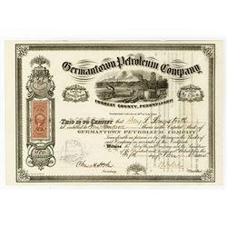 Germantown Petroleum Co., 1865 I/U Stock Certificate.