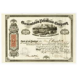 Germantown Petroleum Co., 1865 I/U Stock Certificate.