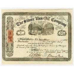 Silver Run Oil Co., 1865 I/U Stock Certificate, Serial #1.
