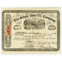 Silver Run Oil Co., 1865 I/U Stock Certificate, Serial #1.
