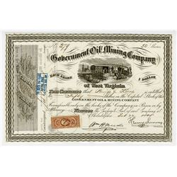 Government Oil and Mining Co., 1865 I/U Stock Certificate.