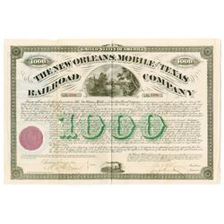 New Orleans, Mobile and Texas Railroad Co., 1873 Issued Bond