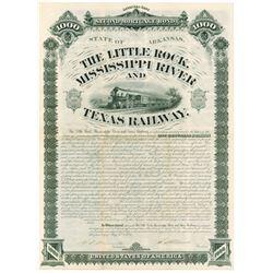 Little Rock, Mississippi River and Texas Railway, 1881 I/U Bond