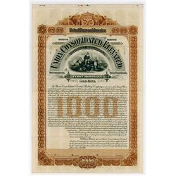 Union Consolidated Elevated Railway Co., 1896 Specimen Bond