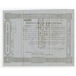 Cincinnati and Fort Wayne Railroad Co., 1853 Cancelled Stock Certificate