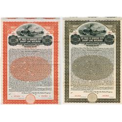St. Paul and Kansas City Short Line Railroad Co., 1911 $500 Specimen Bond.