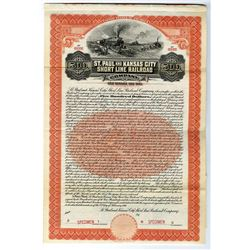 St. Paul and Kansas City Short Line Railroad Co., 1911 Specimen Bond