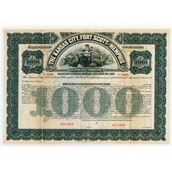 Kansa City, Fort Scott and Memphis Railway Co., 1901 Specimen Bond